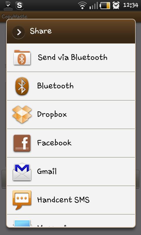 Copywaste - Text Sharing- screenshot