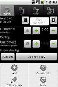 myTimeSheet Free screenshot 0