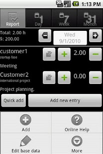 myTimeSheet Free- screenshot thumbnail