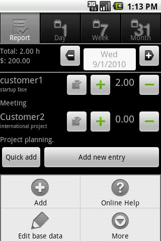 myTimeSheet Free - screenshot