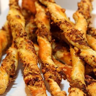 Pesto Pine Nut Cheese Sticks