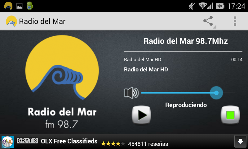 Radio del Mar- screenshot