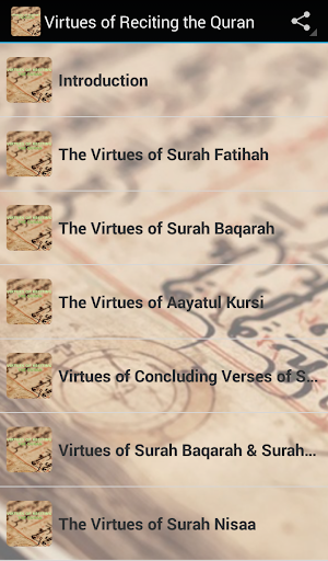 Virtues of reciting the Quran