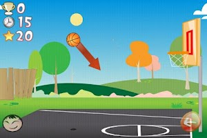 Screenshot of Basketball Trick Shots Lite