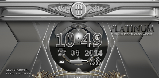 Digi Clock Widget Platinum APK