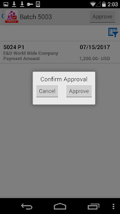 Payment Batch Approvals JDE E1- screenshot thumbnail