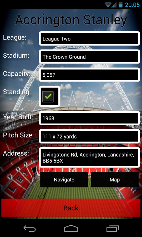 Football Stadiums- screenshot