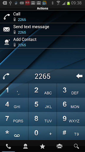 RocketDial DarkBlue Theme HD