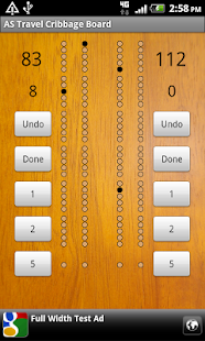 Travel Cribbage Board AS screenshot