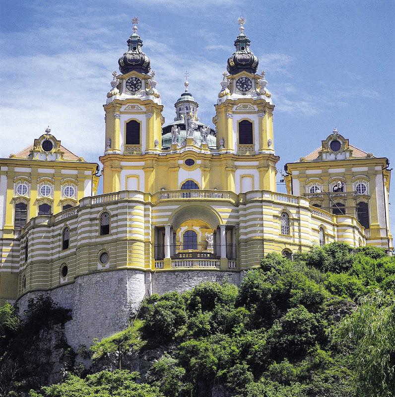 Melk Abbey on the Danube in Austria.