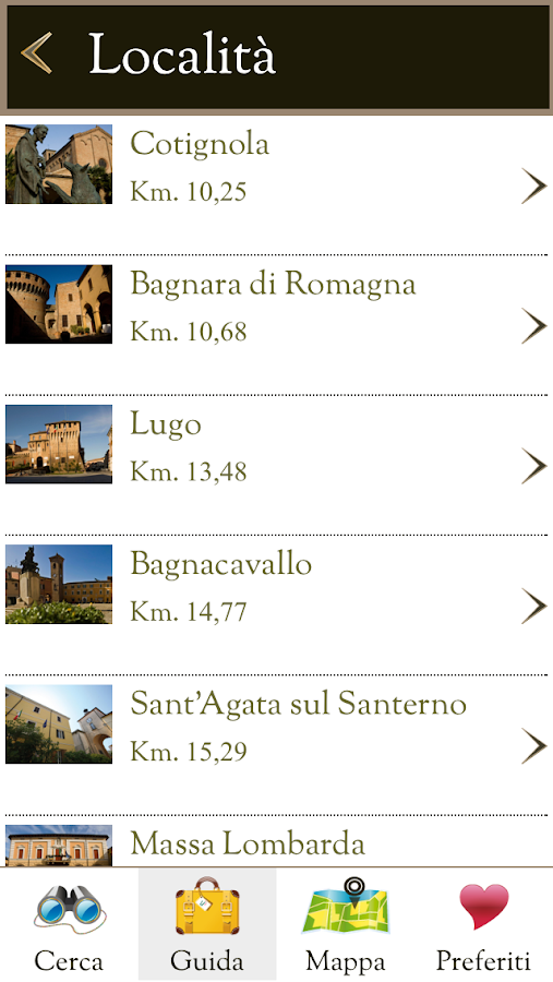 Bassa Romagna Guida Turistica- screenshot