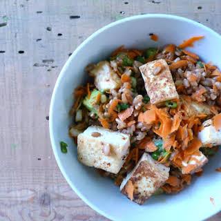 Tangy Miso & Avocado Farro Salad.