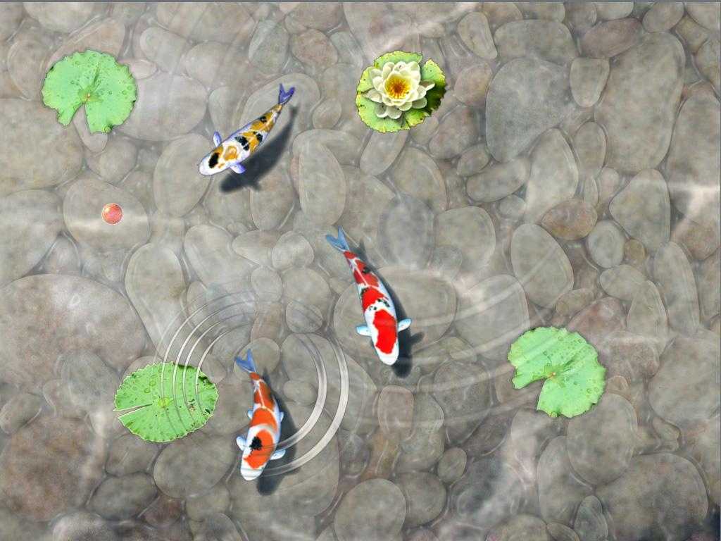 Feed the koi fish kids game android apps on google play for Fish pond game