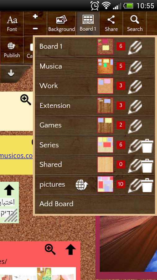 Note Board- screenshot