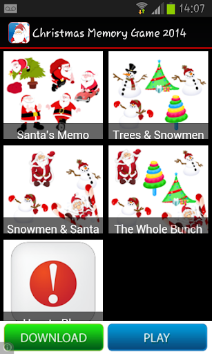 Christmas Memory Game 2014