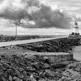 The end of the world by Bjørn Kristiansen - Landscapes Travel ( lighthouse, dramatic, landscape, lofoten, skies )
