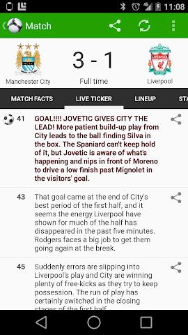 android Fußball Ergebnisse - FotMob Screenshot 4