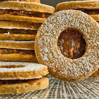 Linzer Piggy Cookies