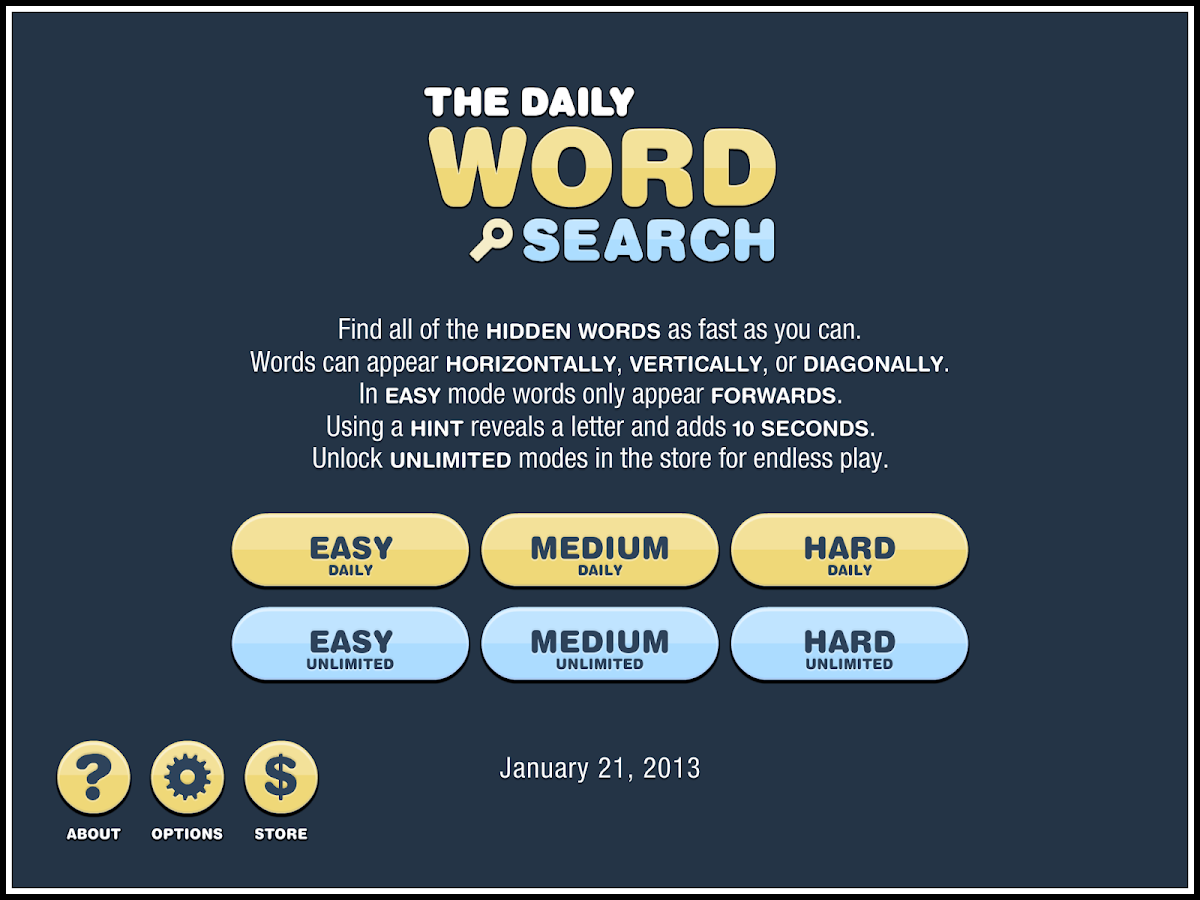 Daily Word Search- screenshot