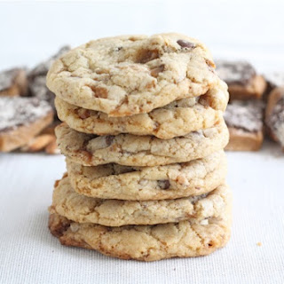 Chocolate Chip Almond Toffee Cookies