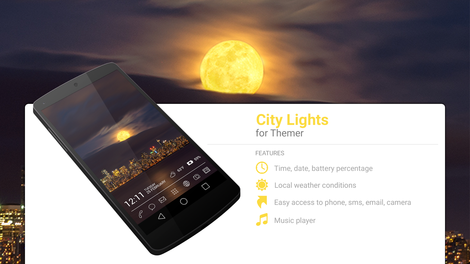 Gmail themes city - City Lights Theme Screenshot