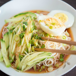 Cold Asian Noodles with Cucumber.