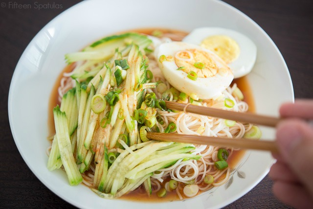 Cold Asian Noodles with Cucumber Recipe