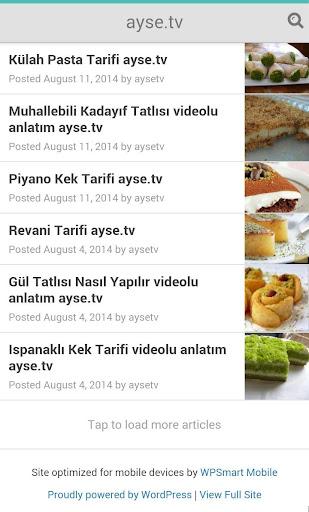 Ayşe.Tv pasta tatlı tarifleri