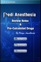 Screenshot of Pedi Anesthesia