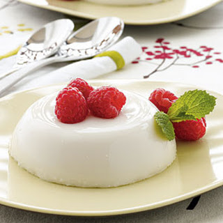 White Chocolate Panna Cotta.