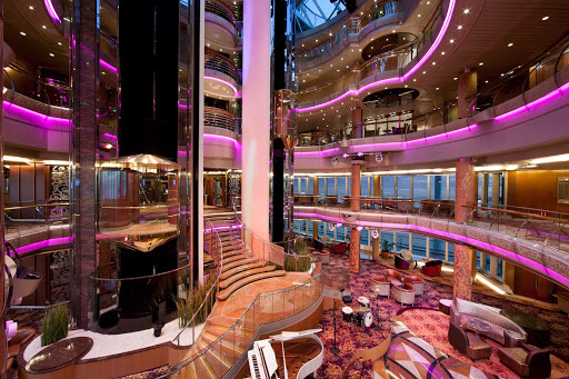 Splendour-of-the-Seas-Centrum-2 - The Centrum's sweeping views, and its central location on Splendour of the Seas, make it an ideal spot for people watching.