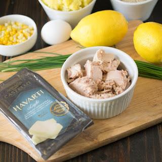 Feed Your Creativity with Castello havarti tuna melt cakes.