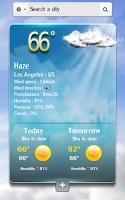 Screenshot of Speaking weather