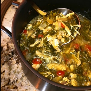 Kale, Chicken and White Bean Soup.