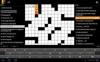 Screenshot of Crossword Puzzle