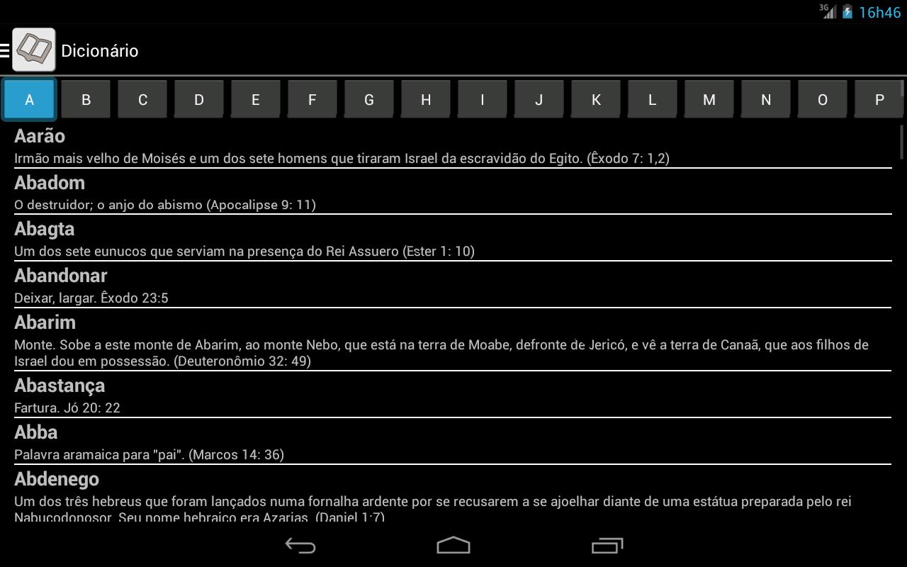 Bíblia JFA Offline - screenshot