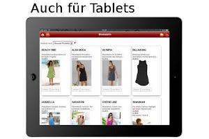 Screenshot of Mode shoppen