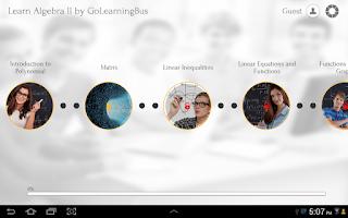 Screenshot of Learn Algebra II