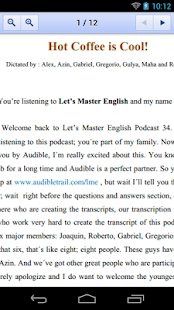 Let's Master English Podcast- screenshot thumbnail