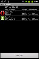 Screenshot of Net Traffic Counter Free