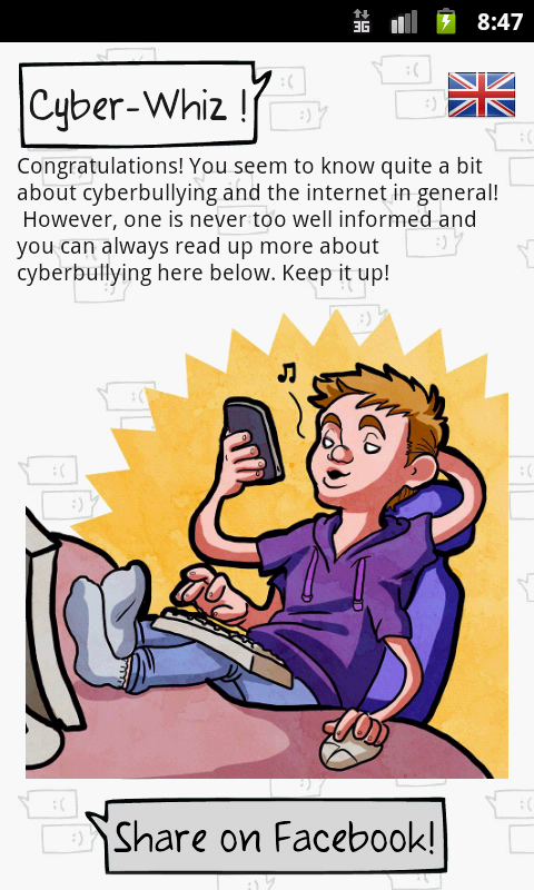 #DeleteCyberbullying: captura de pantalla