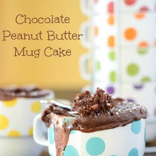 Chocolate Peanut Butter Mug Cake.