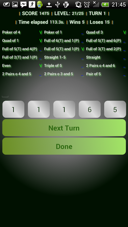 Doms roll dice poker game free- screenshot
