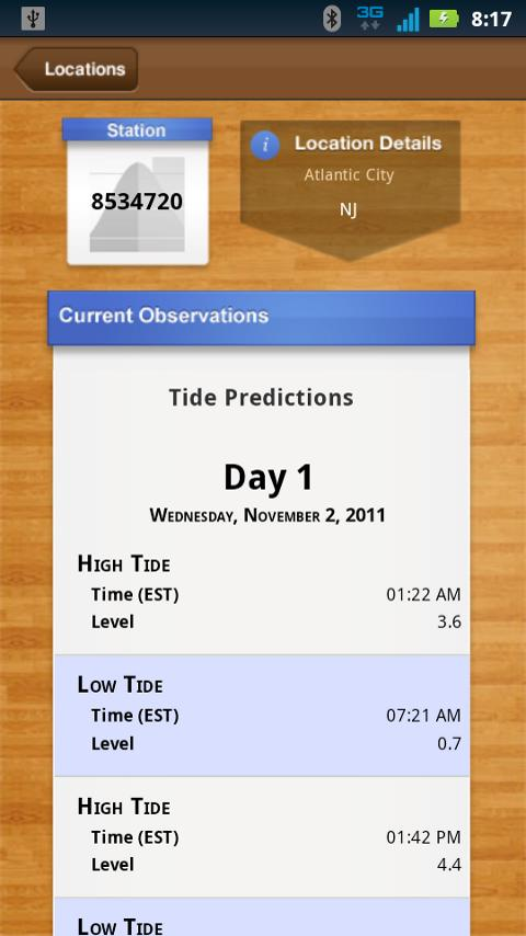 NOAA Ocean Buoys and Tides PRO- screenshot