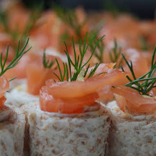 Smoked Salmon and Cheese Rolls.
