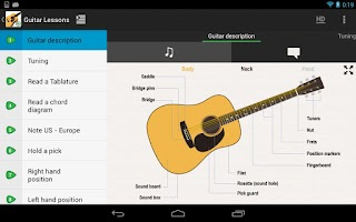 Screenshot of Guitar Lessons Beginners
