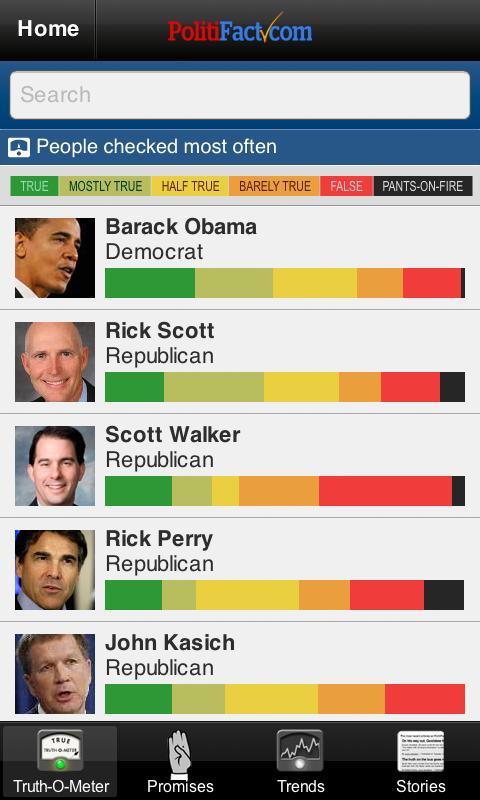 Politifact Mobile- screenshot