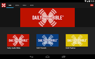 Screenshot of Daily Audio Bible
