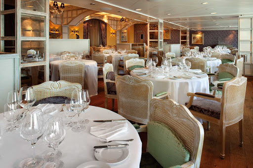 You'll enjoy a fine dining experience at Jacques restaurant on Oceania's Marina.
