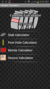 Cement Calculator screenshot 0